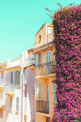 Royalty-Free and Rights-Managed Images - Cannes City Print, Summer Travel, Urban Architecture, Cannes France, Charming Houses, Home Decor by Radu Bercan