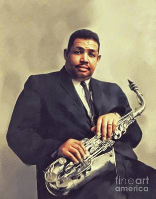 Recently Sold - Music Paintings - Cannonball Adderley, Music Legend by John Springfield