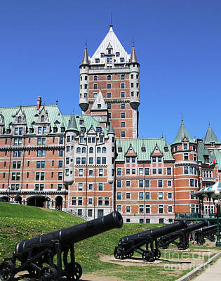 Abstract Utensils - Cannons at Fairmont Le Chateau Frontenac Quebec City  6483 by Jack Schultz