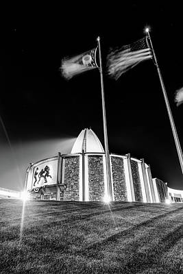 Basketball Patents Royalty Free Images - Canton Ohio Pro Football Hall of Fame Monochrome Landscape Royalty-Free Image by Gregory Ballos