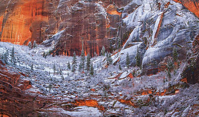 Royalty-Free and Rights-Managed Images - Canyon Frosting by Joseph Rossbach