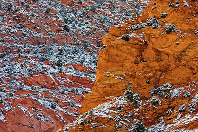 Royalty-Free and Rights-Managed Images - Canyon Snow Abstract III by Brian Knott Photography