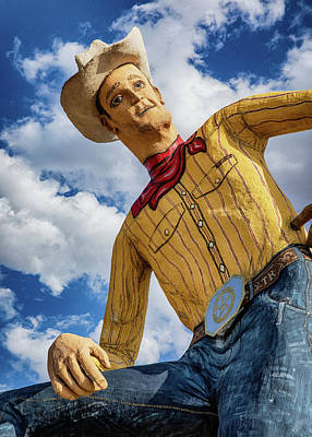 Gaugin Rights Managed Images - Canyon TX Cowboy Statue Royalty-Free Image by Stephen Stookey