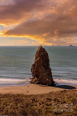 World War 2 Action Photography - Cape Blanco Sunset by Mitch Shindelbower