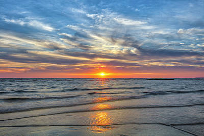 Fathers Day 1 - Cape Cod Bay Herring Brook Beach by Juergen Roth
