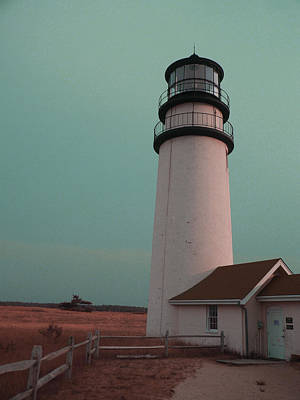 Surrealism Royalty Free Images - cape cod lighthouse - Surreal Art by Ahmet Asar Royalty-Free Image by Celestial Images