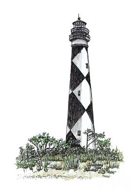 Mixed Media - Cape Lookout Lighthouse by Stephany Elsworth