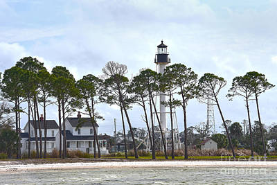 Uncle Sam Posters Rights Managed Images - Cape San Blas Lighthouse, Florida Royalty-Free Image by Catherine Sherman