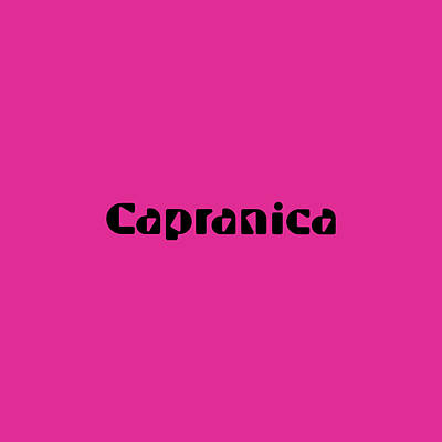 Royalty-Free and Rights-Managed Images - Capranica by TintoDesigns