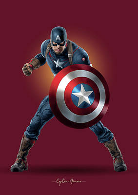 Royalty-Free and Rights-Managed Images - Captain America - Marvel by Samuel Whitton