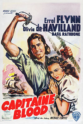 Halloween Movies - Captain Blood - 1935 by Stars on Art