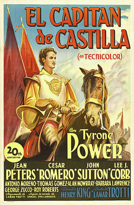 Halloween Movies - Captain From Castile - 1948 by Stars on Art