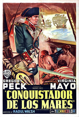 Caravaggio - Captain Horatio Hornblower  with Gregory Peck and Virginia May, 1951 by Stars on Art