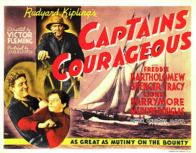 Peacock Feathers - Captains Courageous - 1937 by Stars on Art