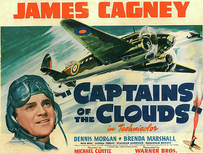 Mixed Media Royalty Free Images - Captains of the Clouds, with James Cagney and Brenda Marshall, 1942 Royalty-Free Image by Stars on Art