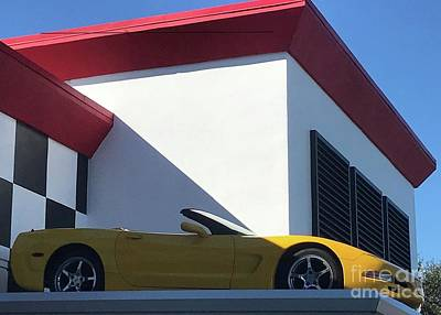 Pasta Al Dente - Car on The Roof by Barbie Corbett-Newmin