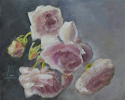 Painting - Careless Summer Roses by Linda Falorio