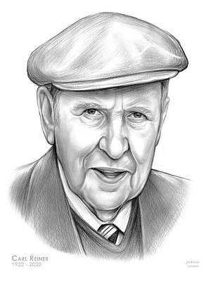 Drawings Royalty Free Images - Carl Reiner Royalty-Free Image by Greg Joens