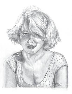 Drawing - Carol Baker Pencil Portrait by Stephany Elsworth