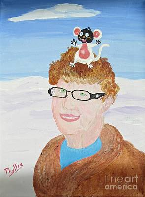 Ethereal - Carol Ruth and Mr. Mouse  by Phyllis Kaltenbach