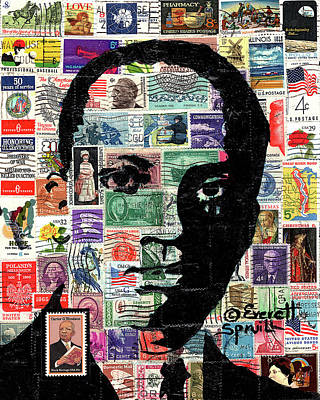 Mixed Media Royalty Free Images - Cartert G. Woodson, the Father of Black History Royalty-Free Image by Everett Spruill