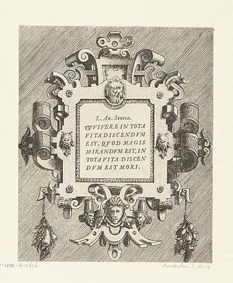 Firefighter Patents Royalty Free Images - Cartouche with a quotation from Seneca Royalty-Free Image by Artistic Panda