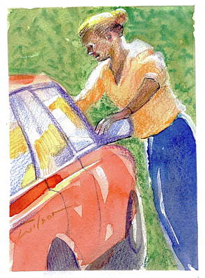 Painting - Carwash by Ron Wilson