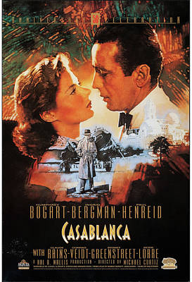 Mixed Media Royalty Free Images - Casablanca poster 1942 Royalty-Free Image by Stars on Art