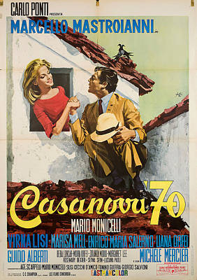 Royalty-Free and Rights-Managed Images - Casanova 70, with Marcello Mastroianni, 1965 by Stars on Art