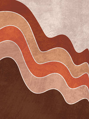 Royalty-Free and Rights-Managed Images - Cascade - Minimal Brown Abstract by Studio Grafiikka