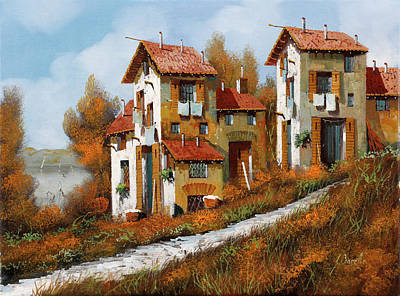 Royalty-Free and Rights-Managed Images - Case Verso Il Lago by Guido Borelli