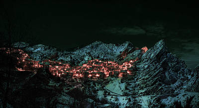 Surrealism Royalty Free Images - Castelmezzano Italy - Surreal Art by Ahmet Asar Royalty-Free Image by Celestial Images
