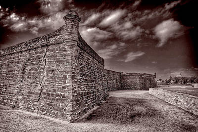 Clouds Rights Managed Images - Castillo de San Marcos Royalty-Free Image by Anthony M Davis