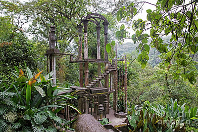 Surrealism Royalty-Free and Rights-Managed Images - Castillo Surrealista at Las Pozas, Xilitla, San Luis Potosi, Mexico by Arterra Picture Library