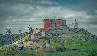 Just Desserts - Castle And Windmills in Consuegra, Stylized by Marcy Wielfaert
