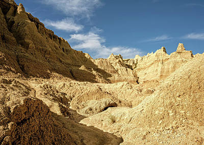 Easter Egg Hunt - Castle Valley Hike Badlands National Park South Dakota USA by Joan Carroll