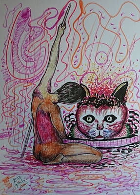 Fantasy Royalty-Free and Rights-Managed Images - Cat Genius Studies human by Genio GgXpress