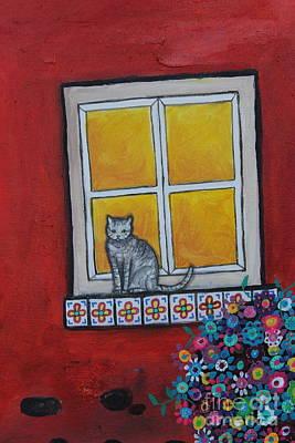 Music Figurative Potraits - Cat in Waiting by Pristine Cartera Turkus