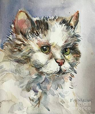 Painting - Cat In Watercolor by Maria Reichert