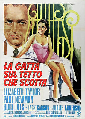 Mixed Media Royalty Free Images - Cat on a Hot Tin Roof movie poster 1958 Royalty-Free Image by Stars on Art