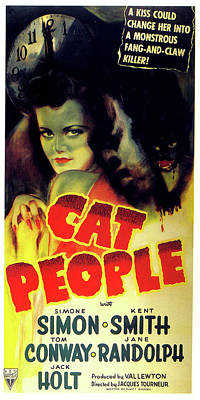 Mixed Media Royalty Free Images - Cat People movie poster 1942 Royalty-Free Image by Stars on Art