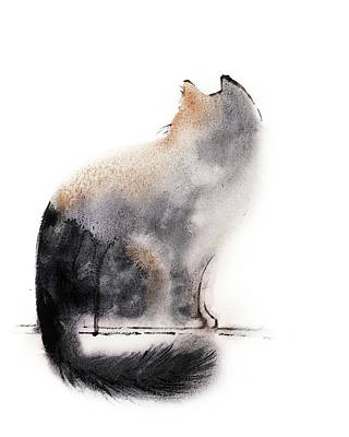School Teaching - Cat silhouette by Sophia Rodionov