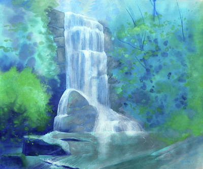 Royalty-Free and Rights-Managed Images - Catawba Falls Upper by Catherine Twomey