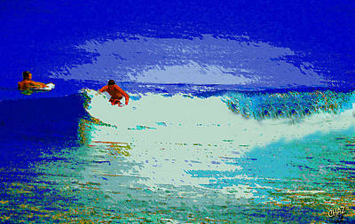 Sports Paintings - Catching a wave by CHAZ Daugherty