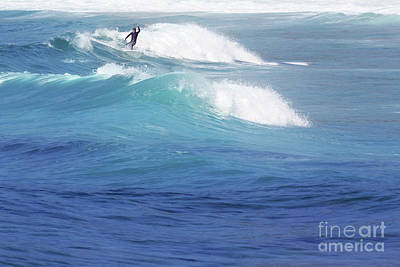 Sports Royalty-Free and Rights-Managed Images - Catching A Wave by Terri Waters