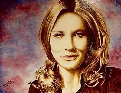 Painting - Cate Blanchett by David Rhys