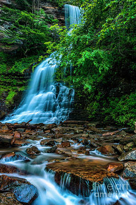 Kitchen Mark Rogan Rights Managed Images - Cathedral Falls in Morning Shade Royalty-Free Image by Thomas R Fletcher