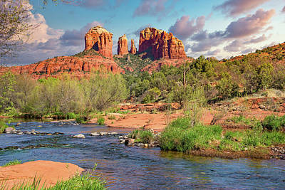 From The Kitchen - Cathedral Rock Viewed From Red Rock Crossing 2 by Jim Vallee