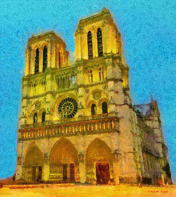 Shark Art - Cathedrale Notre-Dame Of Paris - DA by Leonardo Digenio