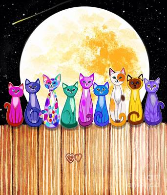 Fun Patterns - Cats in the Full Moonlight by Nick Gustafson